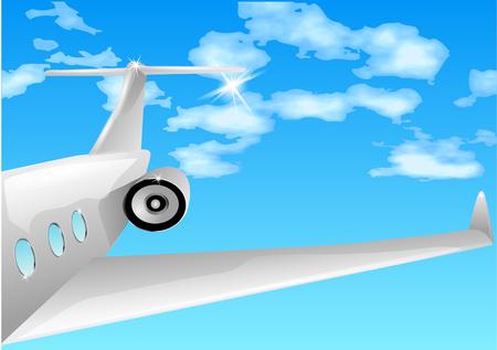 private jet: private jet in blue sku. 10 EPS