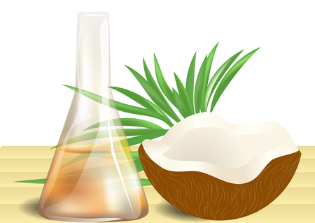coconut oil: coconut oil on table