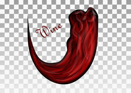 wine red: Red wine abstracton trasparent background.  Illustration