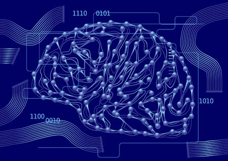 computer science: computer science. brain as a computer circuit board