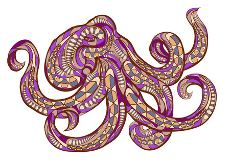 octopus: ethnic octopus in  isolated on empty background