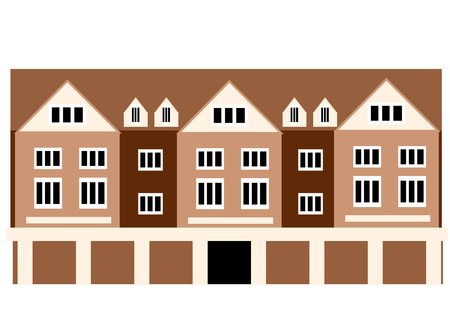 abstract building: spitalfields. abstract building isolated on white background Illustration