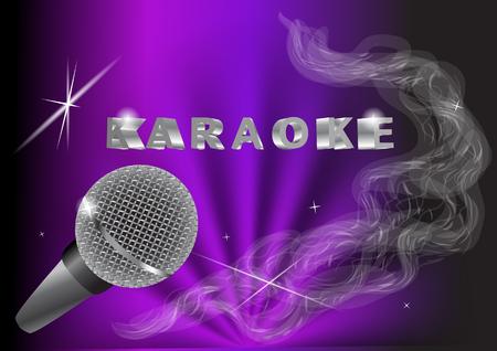 karaoke. live muziek background.vintage microfoon en licht