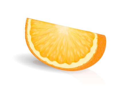 orange slice: fresh orange slice on a white background