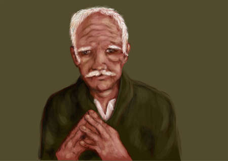 old man: old man. nice image of a lonely old man