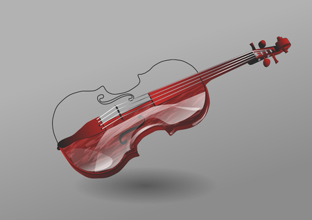violin on a gray background.