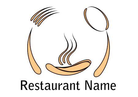 Restaurant pictogram geïsoleerd op een witte achtergrond