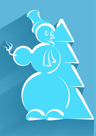 snowman isolated: icon of snowman isolated on a white background