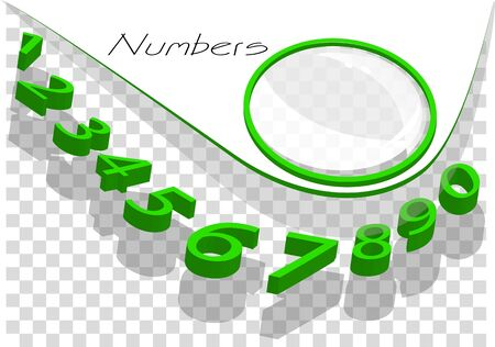 numbers abstract: numbers abstract background. green numbers on checkered background