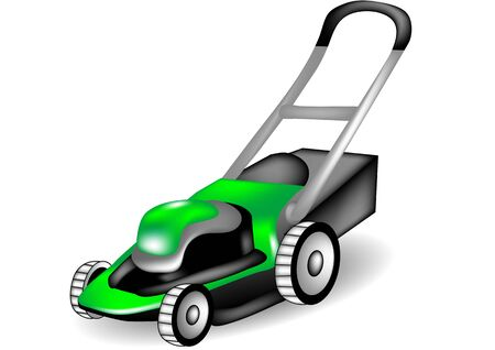 lawn mower: lawn mower on white background. 10 EPS