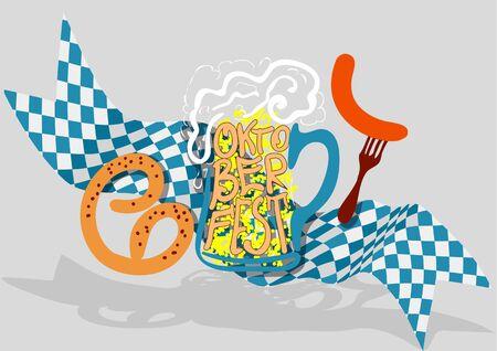 oktoberfest background: Oktoberfest background with beer