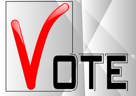 polling: voting symbols vector design
