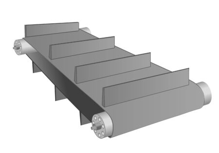 transportband die op een witte achtergrond Vector Illustratie