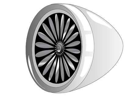 jet engine: jet engine isolated on a white background