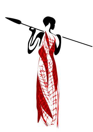 Masai. streszczenie sylwetka człowieka na białym tle