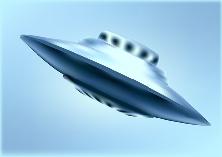 space invader: UFO. Alien saucer spaceships. Unidentified objects flying in the sky.
