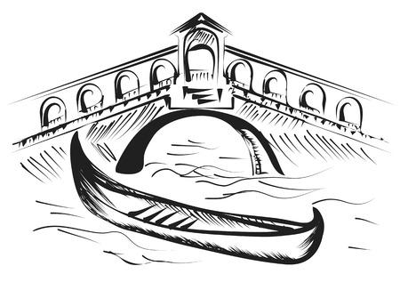 venice gondola: venice gondola isolated on a white background