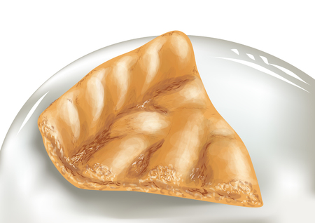 apple pie: apple pie on white dish.