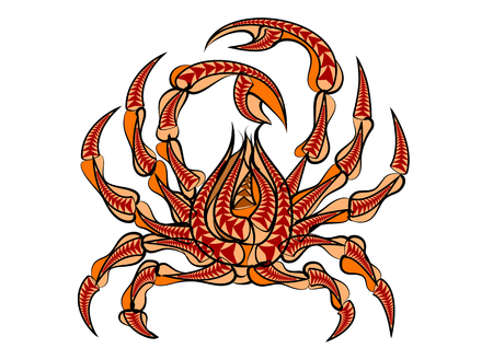 backgroud: spider crab isolated on a white backgroud Illustration