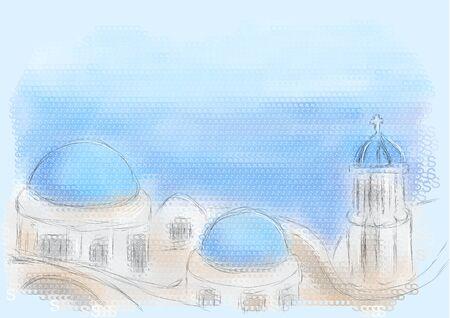 santorini: greece santorini