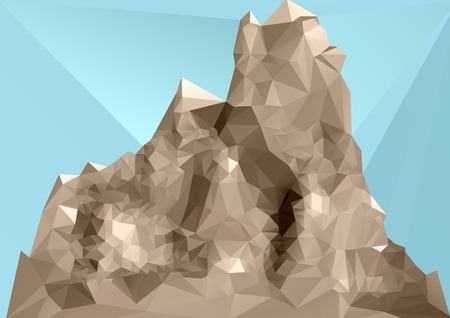 ridges: mountain polygon style. abstract background. 10 EPS
