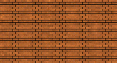 red brick wall: seamless brick masonry. Red brick wall seamless Vector illustration background Illustration