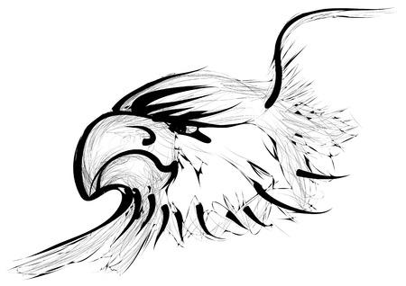 aguila real: águila de oro aislado en un fondo blanco
