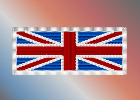 fancywork: union jack fancywork on multicolor background Illustration