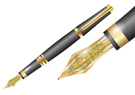 Vul pen geïsoleerd op een witte achtergrond