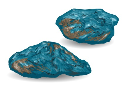 iron ore: iron ore isolated on a white background Illustration