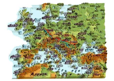 Map of Europe. abstract geometrical stylized map Illusztráció