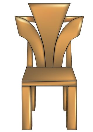 designer chair: designer chair isolated on a white background