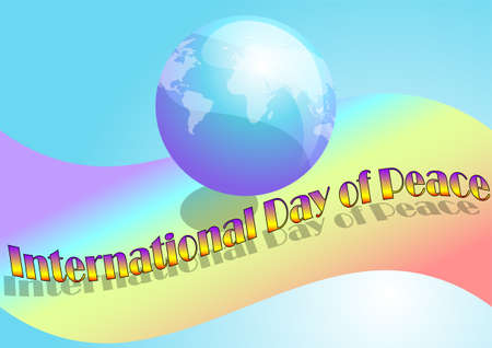 peace day: International Day of Peace. abstract peace day background Illustration