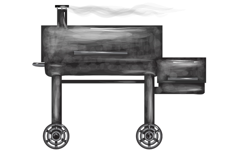 smoker stove isolated on a white background