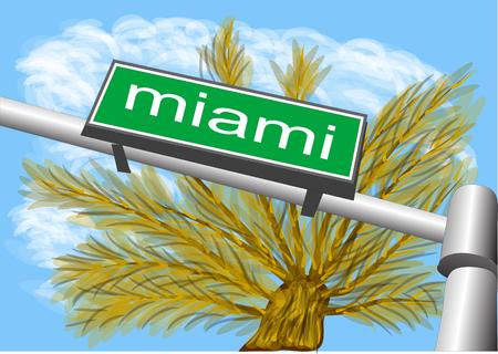 miami: miami south beach abstract sign.