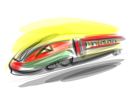 high speed train: high speed train absract illustration.