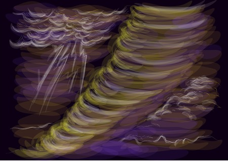 hurricane disaster: hurricane abstract vector multicolor illustration Illustration