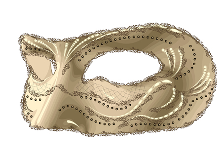 mask of carnival isolated on white background