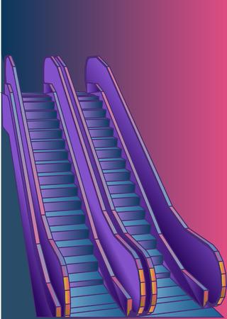 Abstract escalator illustration. Ilustração