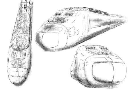 shinkansen: shinkansen. illustration of high speed train. 10 EPS