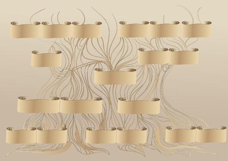 genealogy. abstract family tree illustration Illustration