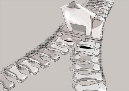merger: merger. Zip fastener as bussines symbol Illustration
