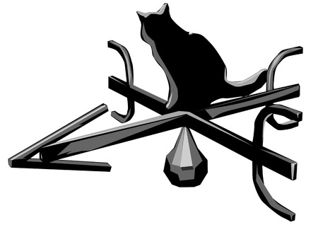 windward: weather vane isolated on a white background Illustration