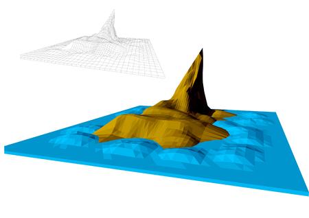 faroe islands sabstract illustration Illusztráció