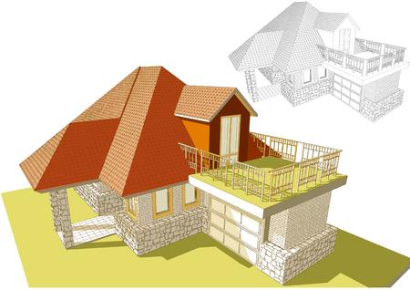 Roof terrace illustration.