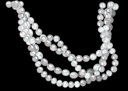 Pearl necklace illustration. Vettoriali