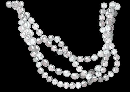 Pearl necklace illustration. Illustration