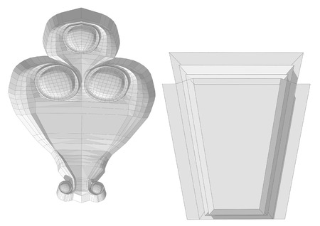 Architectural stone isolated on a white background Illustration