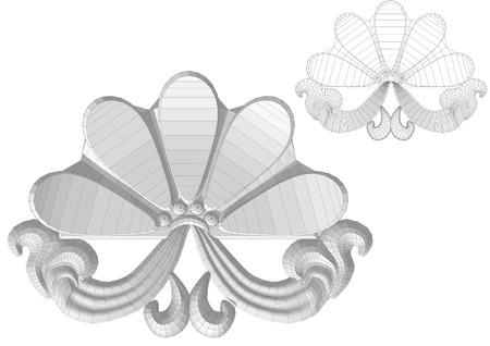 Carved flower illustration. Illusztráció
