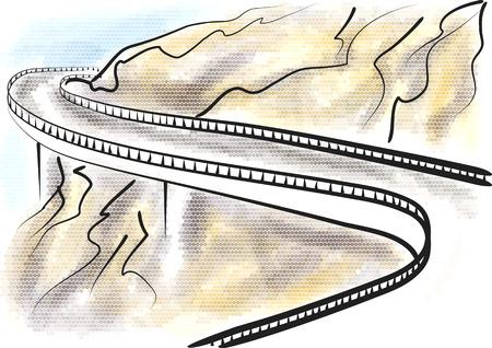 Blue ridge parkway abstract illustration. Ilustrace